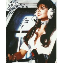 CAROLINE MUNRO SIGNED SEXY THE SPY WHO LOVED ME 10X8 PHOTO (1)