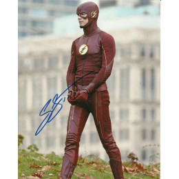 GRANT GUSTIN SIGNED THE FLASH 8X10 PHOTO (1)