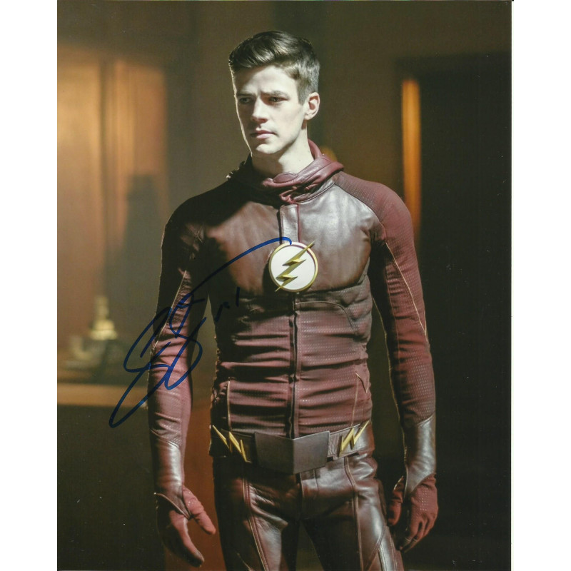 GRANT GUSTIN SIGNED THE FLASH 8X10 PHOTO (3)