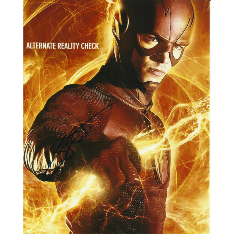 GRANT GUSTIN SIGNED THE FLASH 8X10 PHOTO (4)