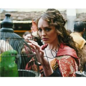 LAURA HADDOCK SIGNED SEXY DA VINCI'S DEMONS 10X8 PHOTO (3)
