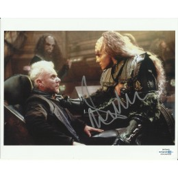 MALCOLM McDOWELL SIGNED STAR TREK 8X10 PHOTO  ALSO ACOA CERTIFIED