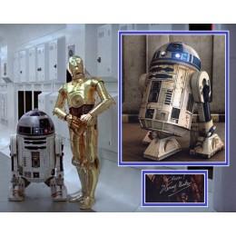 KENNY BAKER SIGNED STAR WARS R2-D2 PHOTO MOUNT UACC REG 242 (1)