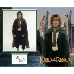 BILLY BOYD SIGNED LORD OF THE RINGS PHOTO MOUNT