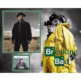 BRYAN CRANSTON SIGNED BREAKING BAD PHOTO MOUNT (2)