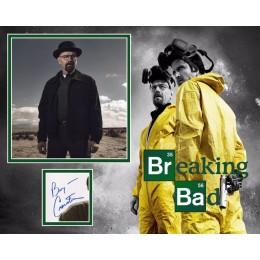 BRYAN CRANSTON SIGNED BREAKING BAD PHOTO MOUNT (3) ACOA