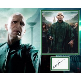 RALPH FIENNES SIGNED HARRY POTTER PHOTO MOUNT (2)