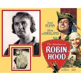 ERROL FLYNN SIGNED ROBIN HOOD PHOTO MOUNT UACC REG 242
