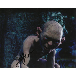 ANDY SERKIS SIGNED GOLLUM LORD OF THE RINGS 8X10 PHOTO (2)