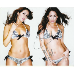 NIKKI AND BRIE BELLA SIGNED SEXY 10X8 PHOTO