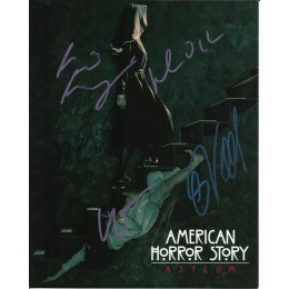 AMERICAN HORROR STORY SIGNED CAST 8X10 PHOTO