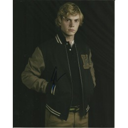 EVAN PETERS SIGNED AMERICAN HORROR STORY 8X10 PHOTO (1)