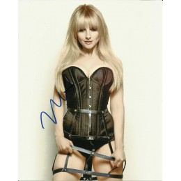 MELISSA RAUCH SIGNED SEXY 10X8 PHOTO (1)