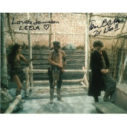 TOM BAKER AND LOUISE JAMESON SIGNED DOCTOR WHO 8X10 PHOTO (1)