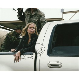 KIM DICKENS SIGNED FEAR THE WALKING DEAD 10X8 PHOTO (1)