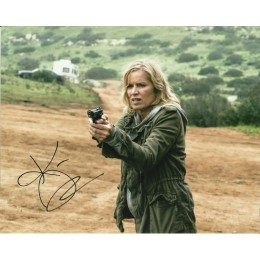 KIM DICKENS SIGNED FEAR THE WALKING DEAD 10X8 PHOTO (2)