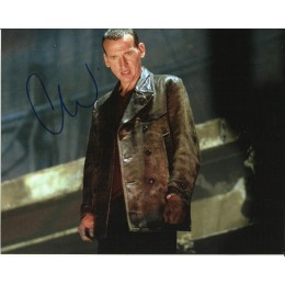 CHRISTOPHER ECCLESTON SIGNED DOCTOR WHO 8X10 PHOTO