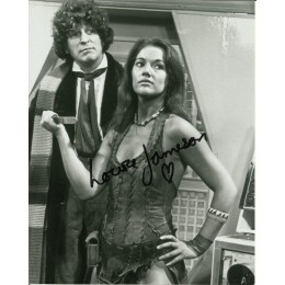 LOUISE JAMESON SIGNED SEXY DOCTOR WHO 10X8 PHOTO