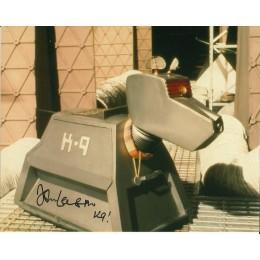JOHN LEESON SIGNED DOCTOR WHO K9 8X10 PHOTO (1)
