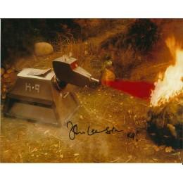 JOHN LEESON SIGNED DOCTOR WHO K9 8X10 PHOTO (3)