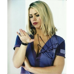 BILLIE PIPER SIGNED DOCTOR WHO 10X8 PHOTO (2)