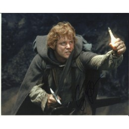 SEAN ASTIN SIGNED LORD OF THE RINGS 8X10 PHOTO