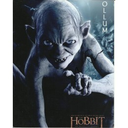 ANDY SERKIS SIGNED GOLLUM LORD OF THE RINGS 8X10 PHOTO (1)