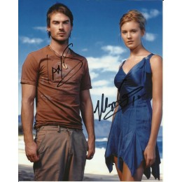 IAN SOMERHALDER AND MAGGIE GRACE SIGNED LOST 8X10 PHOTO