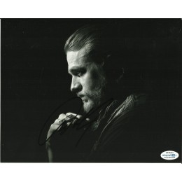 CHARLIE HUNNAM SIGNED SONS OF ANARCHY 8X10 PHOTO (2) ALSO ACOA CERTIFIED