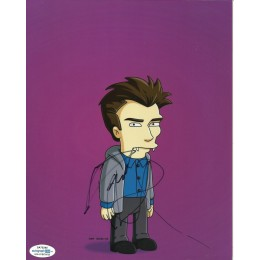 DANIEL RADCLIFFE SIGNED SIMPSONS 8X10 PHOTO (1) ALSO ACOA CERTIFIED