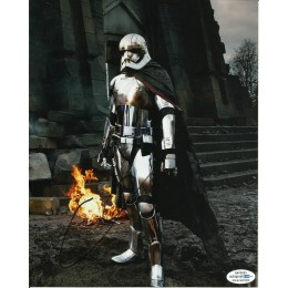 GWENDOLINE CHRISTIE SIGNED STAR WARS 10X8 PHOTO ALSO ACOA CERTIFIED