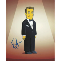 RICKY GERVAIS SIGNED SIMPSONS 8X10 PHOTO