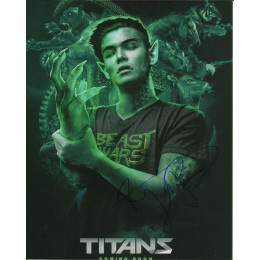 RYAN POTTER SIGNED TITANS 8X10 PHOTO (2)