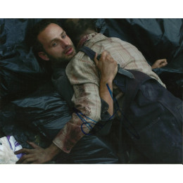 ANDREW LINCOLN SIGNED THE WALKING DEAD 8X10 PHOTO (3)