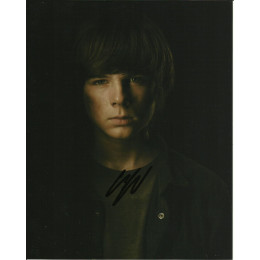 CHANDLER RIGGS SIGNED THE WALKING DEAD 8X10 PHOTO (1)
