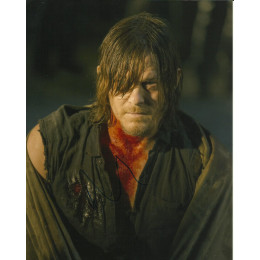 NORMAN REEDUS SIGNED THE WALKING DEAD 8X10 PHOTO (3)