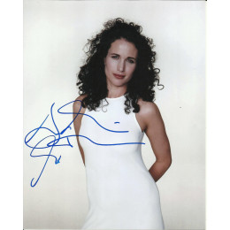 ANDIE MacDOWELL SIGNED SEXY 10X8 PHOTO (5)