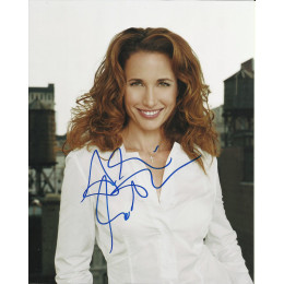 ANDIE MacDOWELL SIGNED SEXY 10X8 PHOTO (6)
