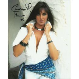 CAROLINE MUNRO SIGNED SEXY 10X8 PHOTO (11)