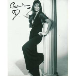 CAROLINE MUNRO SIGNED SEXY 10X8 PHOTO (6)