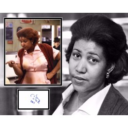 ARETHA FRANKLIN SIGNED BLUE BROTHERS PHOTO MOUNT