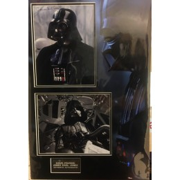 DAVE PROWSE AND JAMES EARL JONES SIGNED STAR WARS PHOTO MOUNT  ACOA