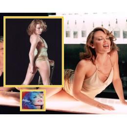 KYLIE MINOGUE SIGNED SEXY PHOTO MOUNT UACC REG 242 (2)