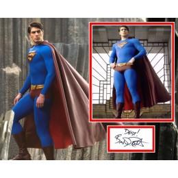BRANDON ROUTH SIGNED SUPERMAN PHOTO MOUNT