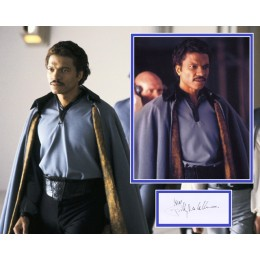BILLY DEE WILLIAMS SIGNED STAR WARS PHOTO MOUNT  ACOA
