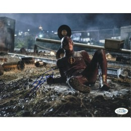 GRANT GUSTIN SIGNED THE FLASH 8X10 PHOTO (1) also ACOA certified