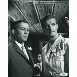 ROGER MOORE SIGNED  8X10 PHOTO  also ACOA certified