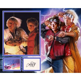 BACK TO THE FUTURE FOX AND LLOYD SIGNED COOL PHOTO MOUNT