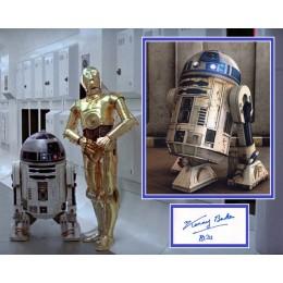 KENNY BAKER SIGNED STAR WARS R2-D2 PHOTO MOUNT UACC REG 242 (2) ACOA