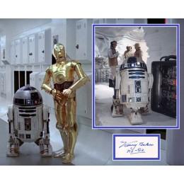KENNY BAKER SIGNED STAR WARS R2-D2 PHOTO MOUNT UACC REG 242 (3) ACOA